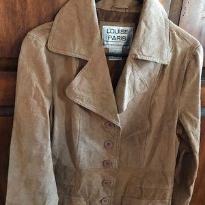 Jackets & Blazers - Louise Paris Women's Brown Leather Coat - Size L